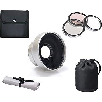 Super Telephoto Lens for Sony HDR-SR10 Optics 3.0X High Definition 37mm HDR-SR11 /& HDR-SR12 + Nwv Direct Microfiber Cleaning Cloth.