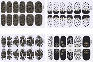 Cute Nail Art Stickers Self-adhesive Tip Decals Design Sticker Polish Strips for Women Nail Art Wraps with Multi Pattern Acrylic DIY Decoration