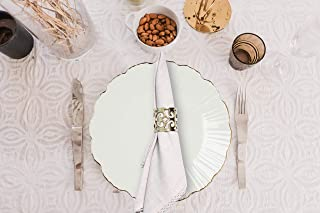 Umi by Amazon Soft Absorbent Small Cotton Cloth Napkins | 45x45 cm | 100% Long Staple Cotton Hemstitched Dinner Napkin| Se...