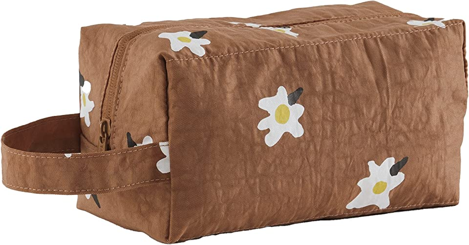 Dopp Kit Toiletry Bag, Great for Travel and Storage, Painted Daisy