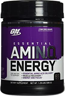 Optimum Nutrition Amino Energy, Concord Grape, 65 Servings