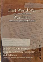 29 DIVISION 88 Infantry Brigade Hampshire Regiment 2nd Battalion : 2 March 1916 - 28 February 1919 (First World War, War Diary, WO95/2308/2)
