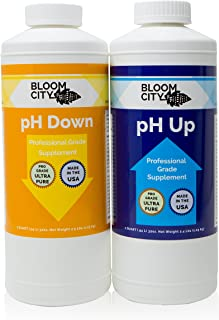 Bloom City Professional pH Up + Down Control Kit (2 one Quart Bottles) 64 Total oz