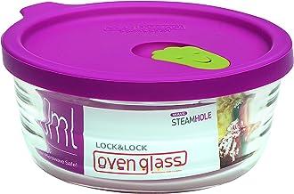 Lock & Lock LLG741 Horno de vidrio para microondas y horno, vidrio, transparente, Ø119 × 54mm, 280ml