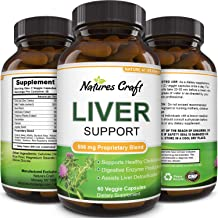 Natures Craft's Natural Liver Support Dietary Supplements Promote Liver Health & Weight Loss For Men & Women – Milk Thistle + Dandelion + Artichoke Complex – Detox Cleanse Vitamins Boost Metabolism