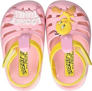 Ipanema Looney Tunes Folks Sandal, Sandalias Planas Bebé-Niñas, Rosa/Amarillo, 19/20 EU