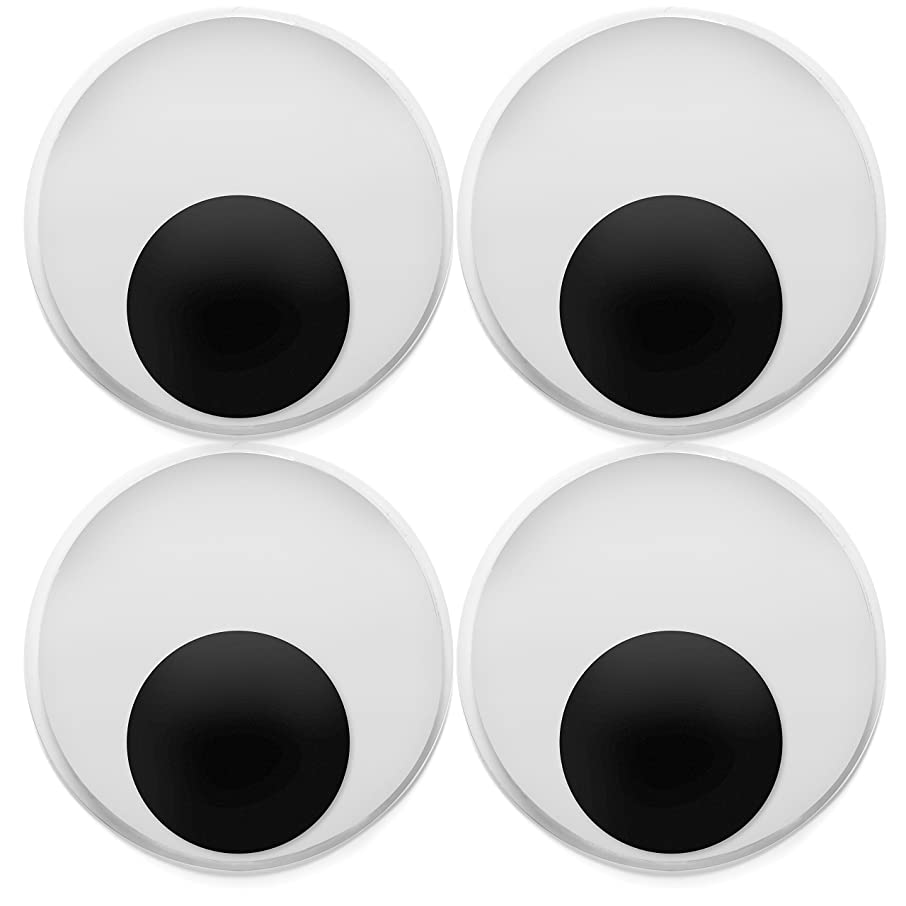 8 Pack Large 4 Inch Jumbo Googly Eyes - Big Wiggle Eyes for Crafting