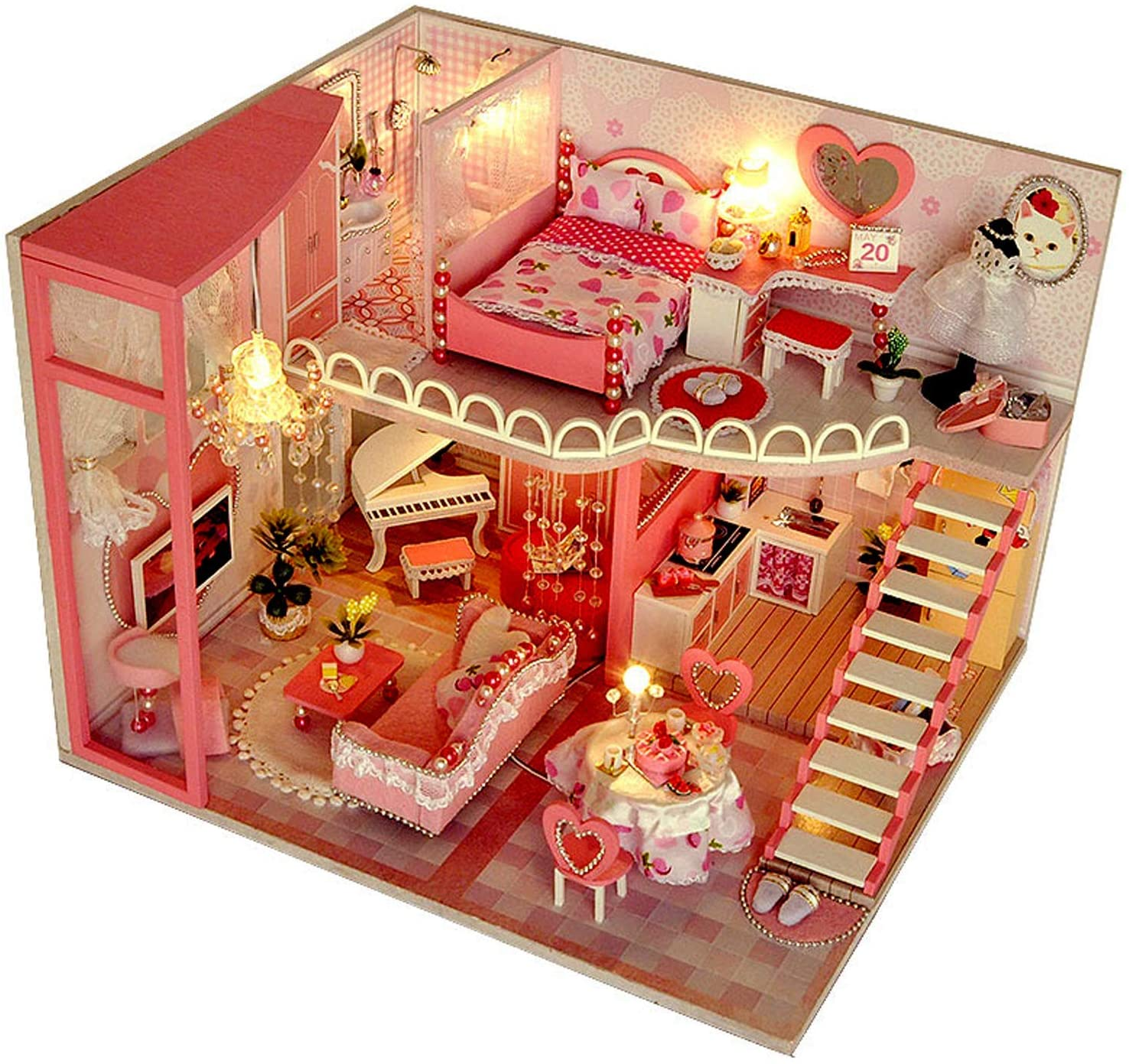 UniHobby DIY Miniatures Sale Special Price OFFicial mail order Dollhouse Kit Furniture House Tiny with