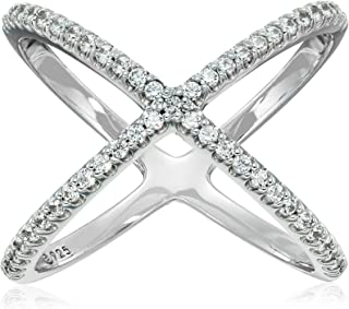 Platinum or Gold Plated Sterling Silver Criss Cross