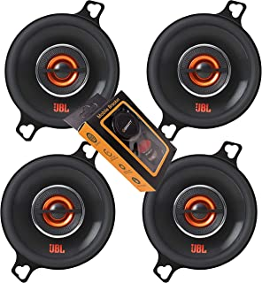 $79 » 2 Pairs of JBL GX328 3-1/2 Inches Coaxial Car Audio Loudspeaker with Frequency Response: 90Hz – 21kHz / 75 Watts Peak Powe...