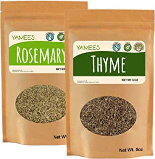 Yamees Thyme – Rosemary – Dried Thyme and Rosemary – Bulk Spices – 2 Pack of 5 Oz Each