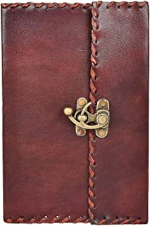 Leather Diary With Lock - Unlined Notebook and Journals to Write in By Rustic Town