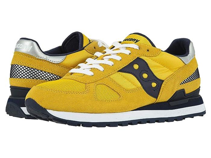 Saucony Originals  Shadow Original (YellowithNavy 2) Mens Classic Shoes