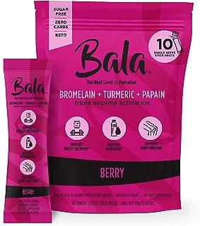 Bala Enzyme Electrolyte Powder - Post Workout Turmeric Recovery Hydration Supplement - Keto Sugar-Free Gluten-Free Repleni...
