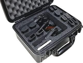 Case Club Waterproof 3 Pistol Case with Silica Gel to Help Prevent Gun Rust
