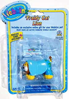 Fraidy Cat Lion Webkinz Feature Code Enclosed