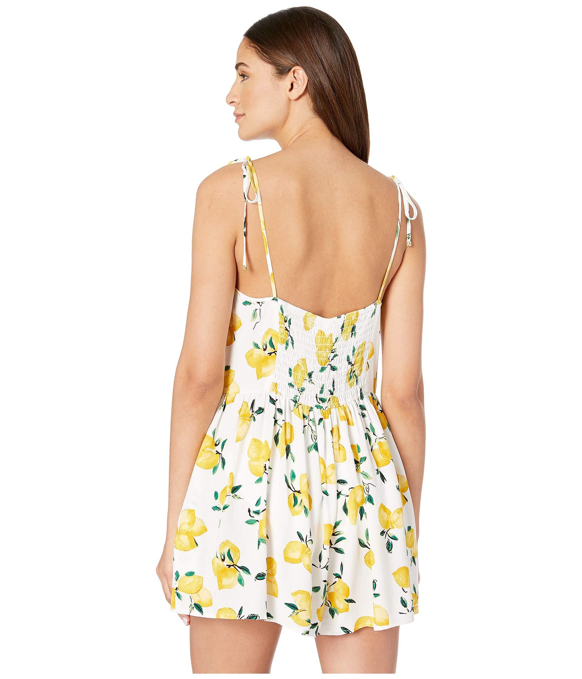 Fresh up Lemon Beach Flare Spade York Kate Cover White Romper New TzR1Tw6