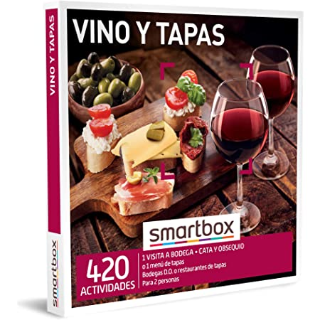 Smartbox - Caja Regalo Vino y Tapas - Idea de Regalo Vino - Visita a Bodega con cata y obsequio o menú de Tapas para 2 Personas