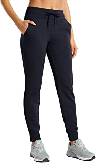 CRZ YOGA Women's Drawstring Sweatpants Elastic Waistband Workout Trousers Jogging Pants with Pockets