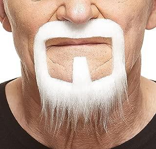 Mustaches Self Adhesive, Novelty, Long Van Dyke Fake Beard, False Facial Hair, Costume Accessory for Adults
