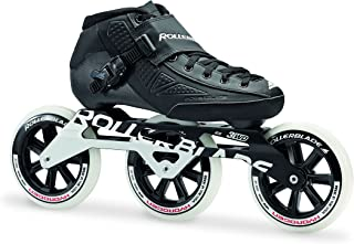 Rollerblade Powerblade Elite 125 Unisex Adult Fitness Inline Skate, Black, Premium Inline Skates