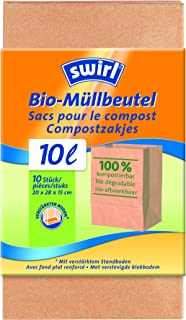 Swirl Biologisch afval papieren zakken 10 l, 10 stuks