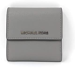 1d113d222db59 Michael Kors Jet Set Travel Small Card Case Trifold Carryall Leather Wallet