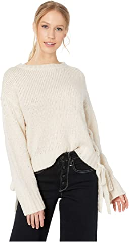 All Tied Up Lace-Up Sweater