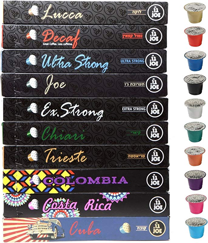 Nespresso Capsules Nespresso Pods 10 VARIETY SAMPLER PACK Nespresso Original Compatible Espresso Pods With Extra Strong Colombian Cuban Costa Rican Blends 100 Capsules