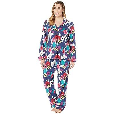 BedHead Pajamas Plus Size Long Sleeve Classic Notch Collar Pajama Set (Painter