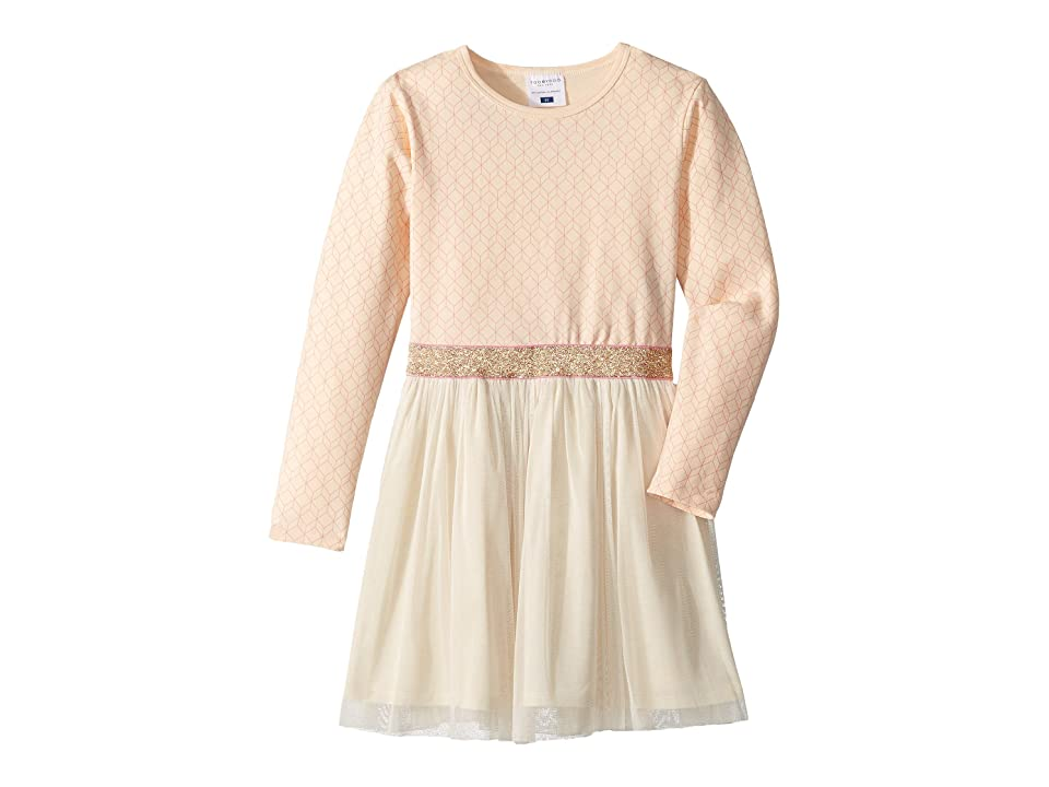 Toobydoo Tulle Party Dress (Toddler/Little Kids/Big Kids) (Peach Geo Print) Girl