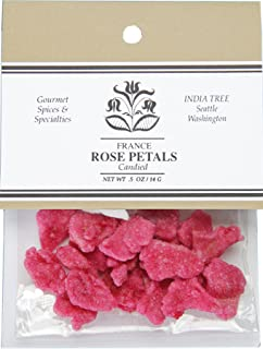 India Tree Candied Rose Petals, 0.5-Ounce (Pack of 4)