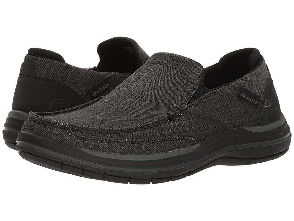 SKECHERS Classic Fit Elson Amster (Black) Men