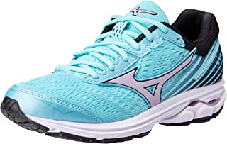 Mizuno Australia Women's Wave Rider 22 Running Shoes, Angel Blue/Lavender Frost/Black, 8 US