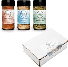 Spice Gift Set By Earth Table - Cooking Gifts - With Herbs de Provence, Boqueria, and Greek - 3 Pack