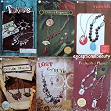 Blue Moon Lot of 6 Full Color Bead Beading Project Booklets Books Instructions Illustrated