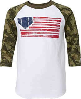 Boy's Triple Stripe ¾ Sleeve Baseball Graphic Shirt