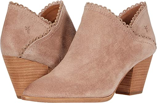 Pale Blush Hairy Suede