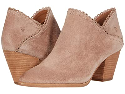 Frye Reed Scallop Shootie (Pale Blush Hairy Suede) Women