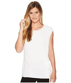 Short Sleeve Soft Texture Tie Front Blouse
