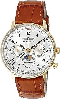 [ツェッペリン]ZEPPELIN 腕時計 ヒンデンブルク シルバー文字盤 ステンレス(YGPVD)ケース デイデイト 70391 メンズ 【正規輸入品】