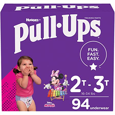 Pull-Ups Girls' Potty Training Pants Training Underwear Size 4, 2T-3T, 94 Ct