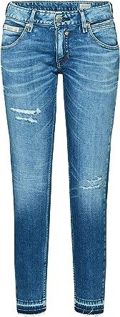 Herrlicher Cropped Cashmere Touch Jeans Slim Donna