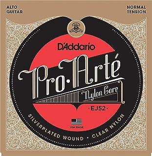 D'Addario EJ52 - Juego de cuerdas para guitarra clásica de entorchado plateado