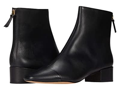 J.Crew Cap-Toe Ankle Boot (Black) Women