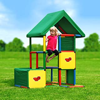 Quadro Universal Rugged Indoor/Outdoor Climber, Tot & Toddler Jungle Gym, Expandable Modular Component Playset, Giant Construction Kit, Play Structure, Educational Toy for Kids Ages 1-6 Years.