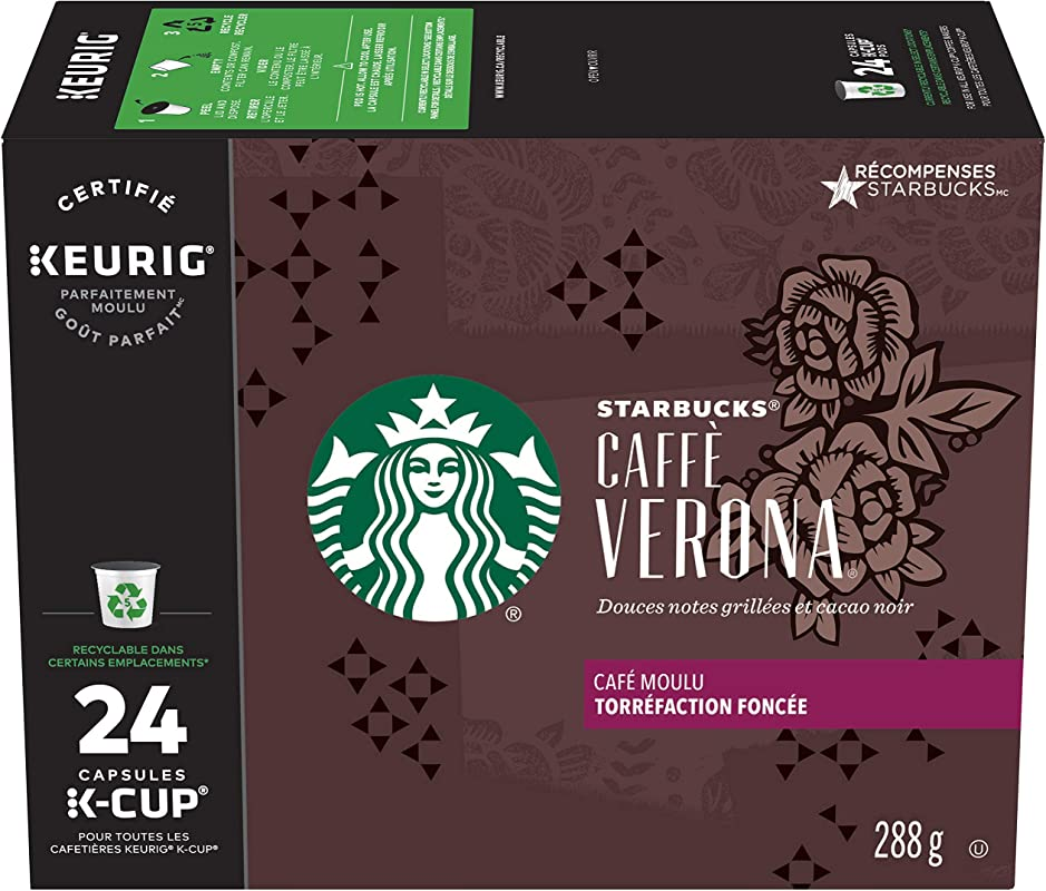 Starbucks Caff Verona Dark Roast Single Cup Coffee For Keurig Brewers 1 Box Of 24 24 Total K Cup Pods