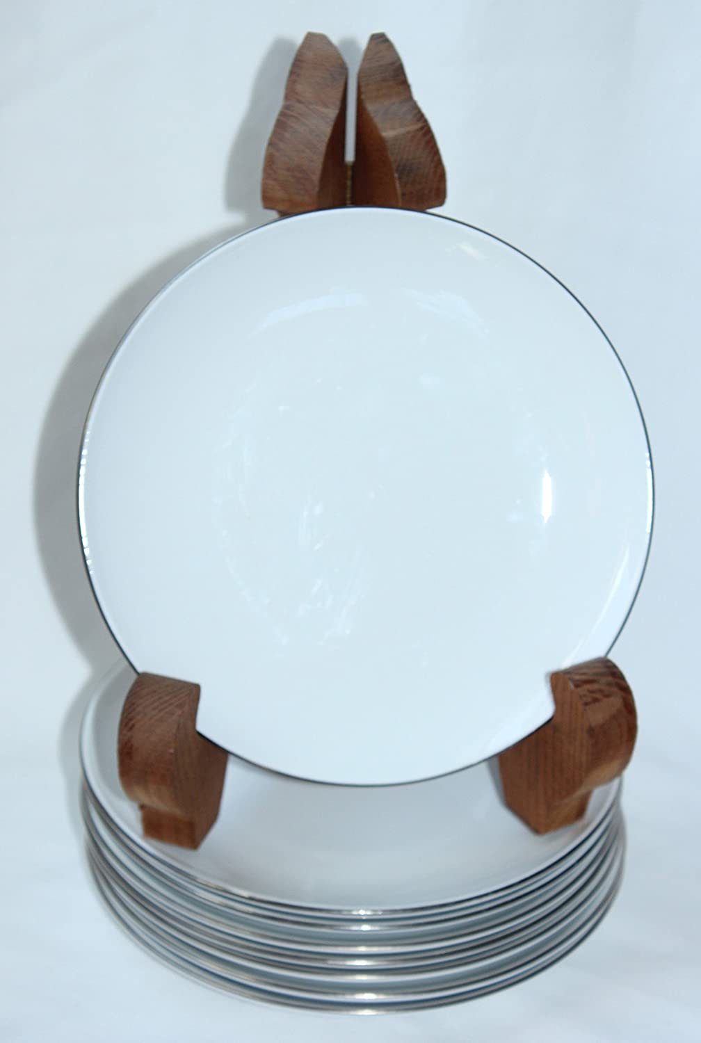 Corning Centura Max 47% OFF White PLATINUM EDGE and Bread Coupe Butter 5 ☆ very popular Plate
