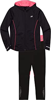 New Balance Girls' Hooded Jacket and Tight Sets