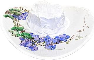 Twist-and-Fold Hat Women's Foldable Cotton Sun Hat, 18 in Diameter Brim
